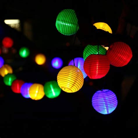 cheap wholesale lantern solar string lights outdoor globe lights 30led warm white multi color