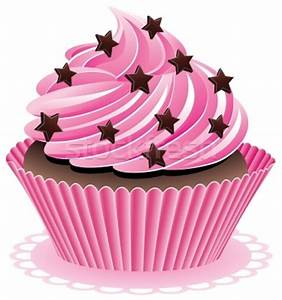 Pink Cupcake Vintage Clipart - Clipart Suggest