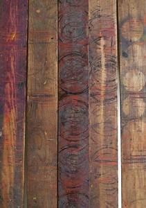 lattes de bois avec motifs peints brun plancher parquet With latte de parquet
