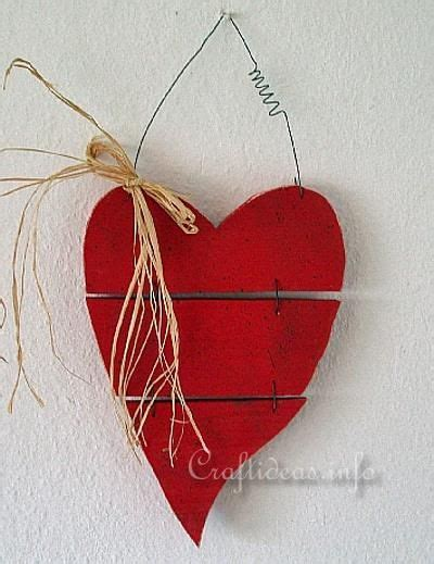 valentines day crafts wood crafts country  heart  type