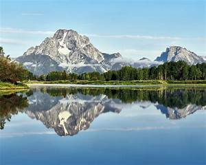 Landscape, Nature, Mountain, Forest, Reflection, Of, The, Still