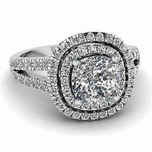 white gold cushion white diamond engagement wedding ring With white diamond wedding ring
