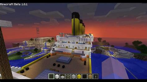 Minecraft Boat Titanic by Minecraft Tutorial R M S Titanic Part 1 3