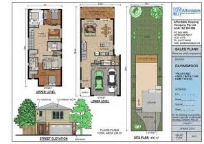Simple House Plans For Small Lot Placement by Narrow Lot House Plans Home Design