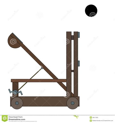siege cotoons ancient catapult royalty free stock photo image