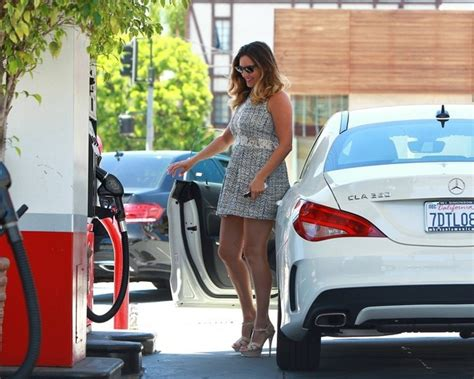 kelly brook  hot driving  mercedes cla