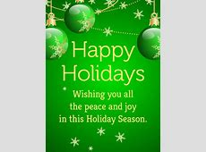 Green Bauble Happy Holidays Card Birthday & Greeting