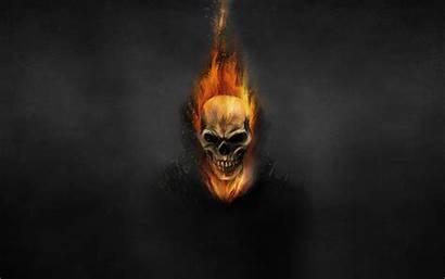 Rider Ghost Bike Wallpapers Fire Skull Skeleton