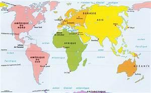 Carte Du Monde Metallique : carte du monde avec les continents voyages cartes ~ Teatrodelosmanantiales.com Idées de Décoration