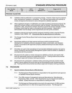 process validation sop template md46 gmp qsr iso With software validation protocol template