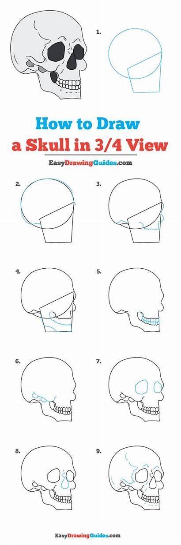 Skull Draw Drawing Tutorial Easy Drawings Easydrawingguides