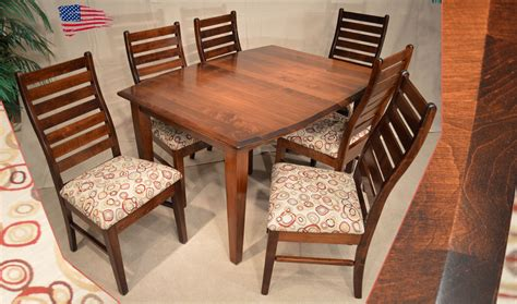 amish shaker dining table and liberty ladder back chairs