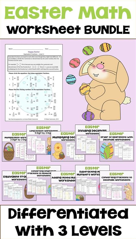 easter math lessons worksheets for all and