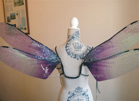 gothic dragonfly iridescent large fairy wings adult size