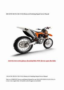 2011 Ktm 350 Sx F  Eu Usa  Motorcycle Workshop Repair