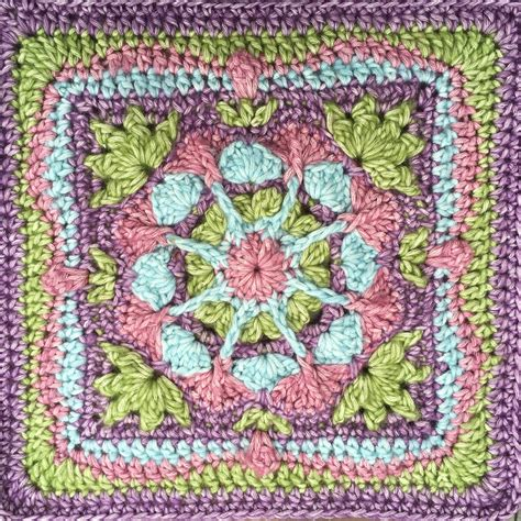 new afghan square design garden afghan square