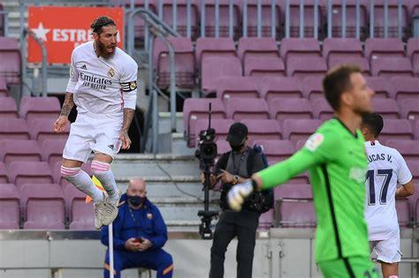 FC Barcelona 1-3 Real Madrid: Ramos penalty seals El ...
