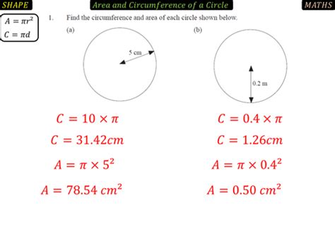 Area & Circumference Of Circles Worksheet By Tristanjones  Teaching Resources Tes