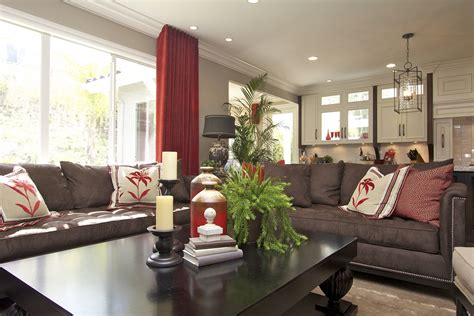 Stylish Transitional Family Room Robeson Design San