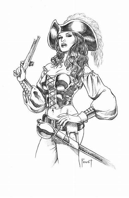 Pirate Drawing Deviantart Woman Coloring Pages Female