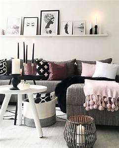 Wohnzimmer Grau Rosa : 1301 best wohnzimmer images on pinterest breastfeeding grey pillows and ladder ~ Orissabook.com Haus und Dekorationen