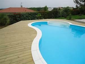 Piscine Avec Terrasse Bois : margelle bois piscine digpres ~ Nature-et-papiers.com Idées de Décoration
