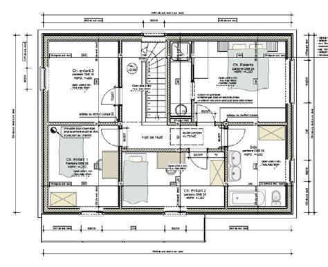 etag e bureau plan maison etage 4 chambres 1 bureau idées novatrices