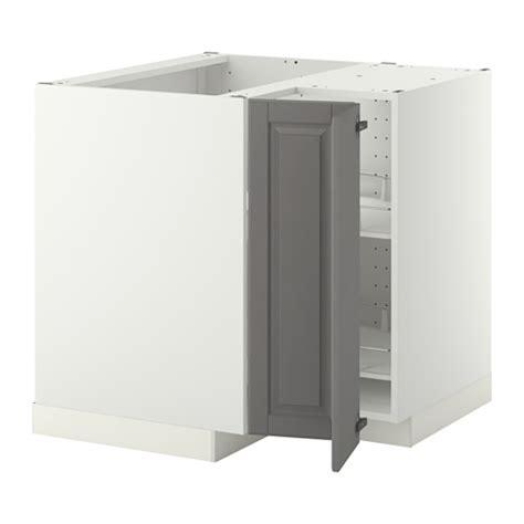 meuble d angle cuisine ikea metod élément bas angle rgt pivotant blanc bodbyn gris
