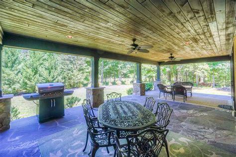 rustic covered porch  huntersville fine