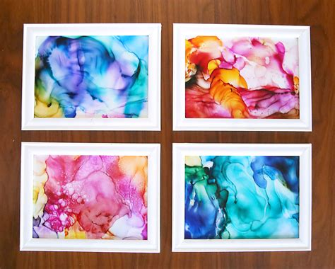 gorgeous fired alcohol ink art   easy