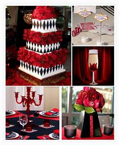 red white and black wedding reception decorations Archives ...