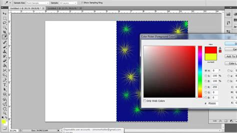 create greeting card  photoshop cs youtube