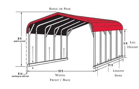 carport colors sizes  information