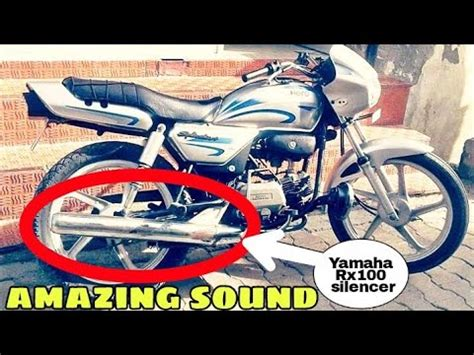 Total Modification by Splendor Modified With Yamaha Rx100 Silencer Total