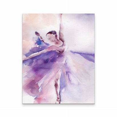 Ballerina Purple Canvas Painting