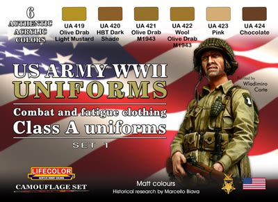 lifecolor usa wwii army uniforms set  ml
