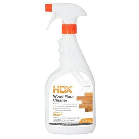Hardwood Floor Cleaner Home Depot by Hdx 32 Oz Wood Floor Cleaner Hdxwf32 The Home Depot