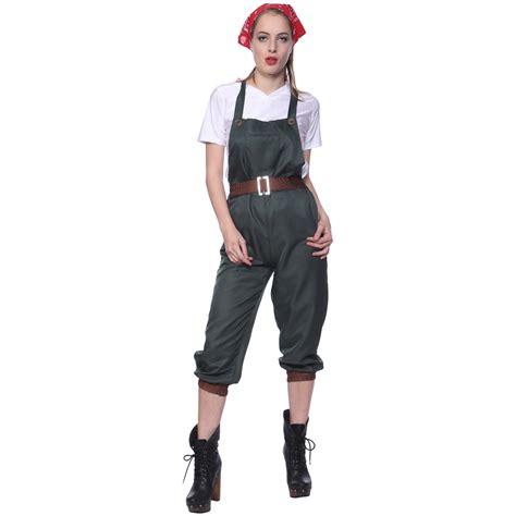 WW2 1940s Army Land Girls World War II Cosplay Wartime ...