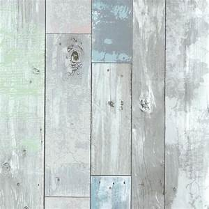 dean blue distressed wood panel wallpaper rustic With best brand of paint for kitchen cabinets with papier peint effet bois