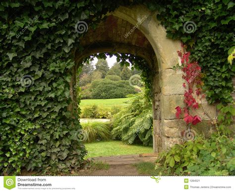 archway  garden stock image image  plants