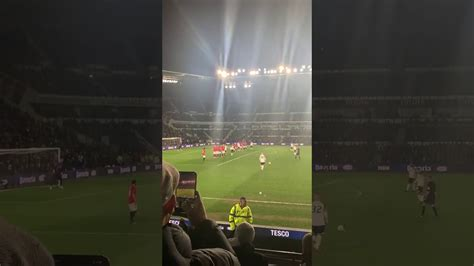 Manchester United's fans chants for Rooney | Derby County ...