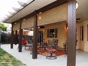Aluminum wood patio cover home furniture design for Aluminum wood patio covers
