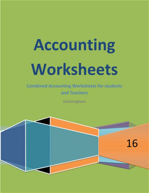 accounting worksheets a complete handout for students and
