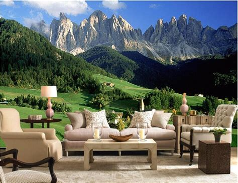 buy custom mural  wallpaper mountain