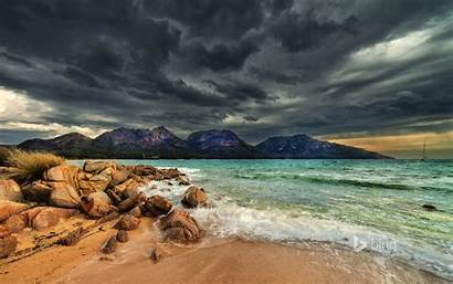 Bing Storm Beach Clouds Archive Wallpapers Mountains