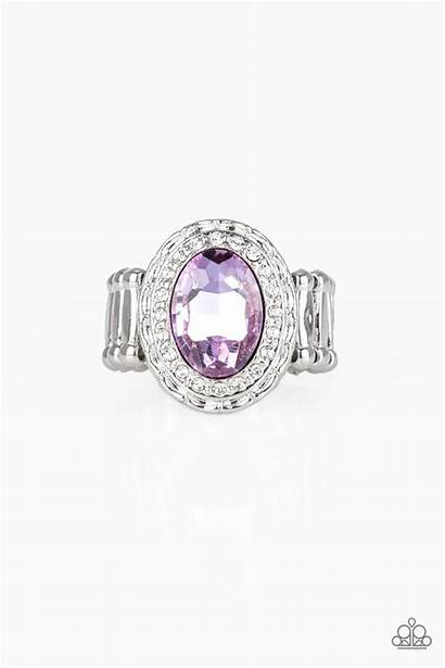 Purple Paparazzi Fiercely Faceted Ring