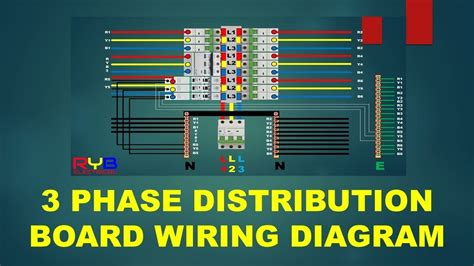 phase distribution board wiring diagram youtube