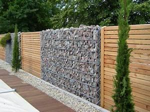 gabion brise vue bois maison pinterest With beautiful rideau pour terrasse exterieur 9 com lame composite pour cloture