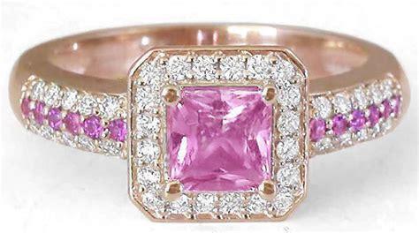 rose gold pink sapphire engagement ring  custom