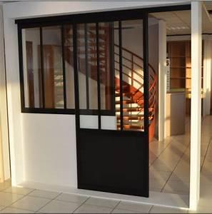 porte de separation coulissante verriere fenetre pvc With porte d entrée pvc avec cloison vitrée salle de bain
